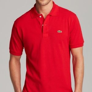 Men's Large (size 6) Red Lacoste Polo Style Shirt